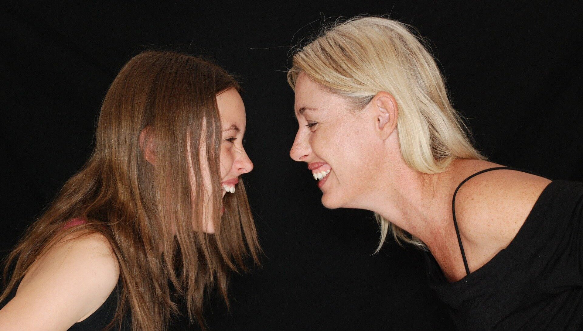 Telling jokes! Families that laugh together survive isolation together